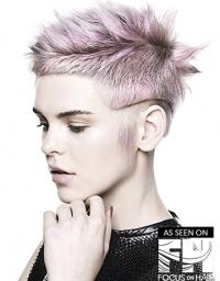 Pink & Silver Undercut Pixie - AUEX18-1471