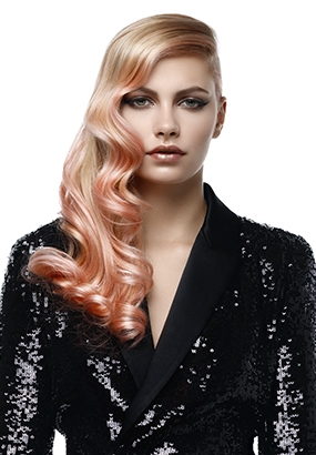 Sweet Coral hair color trend