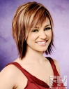 Mid length textured bob dimensional color hair hairstyle