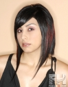 Hair hairstyle Aline bob extreme length in front