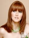 longer layers hair hairtyle red hair redhead bangs