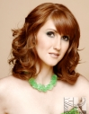 Loosely Curled Layers hair hairstyle red redhead