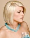 Smooth bob hairstyle blonde hair