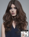Fullness on High long layers waves hairstyle
