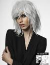 Tousled Platinum Bob hairstyle