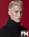Platinum Pomp Hairstyle