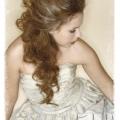 Long Hair partial Updo texture Pomp