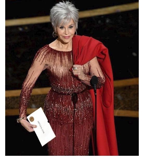 Jane Fonda's Icy Hue
