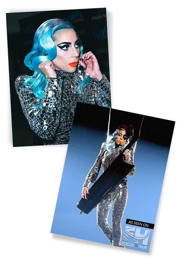 Lady Gaga Blue Hues Hairstyle