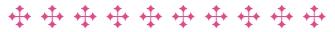 Steel Cross Graphic - Pink
