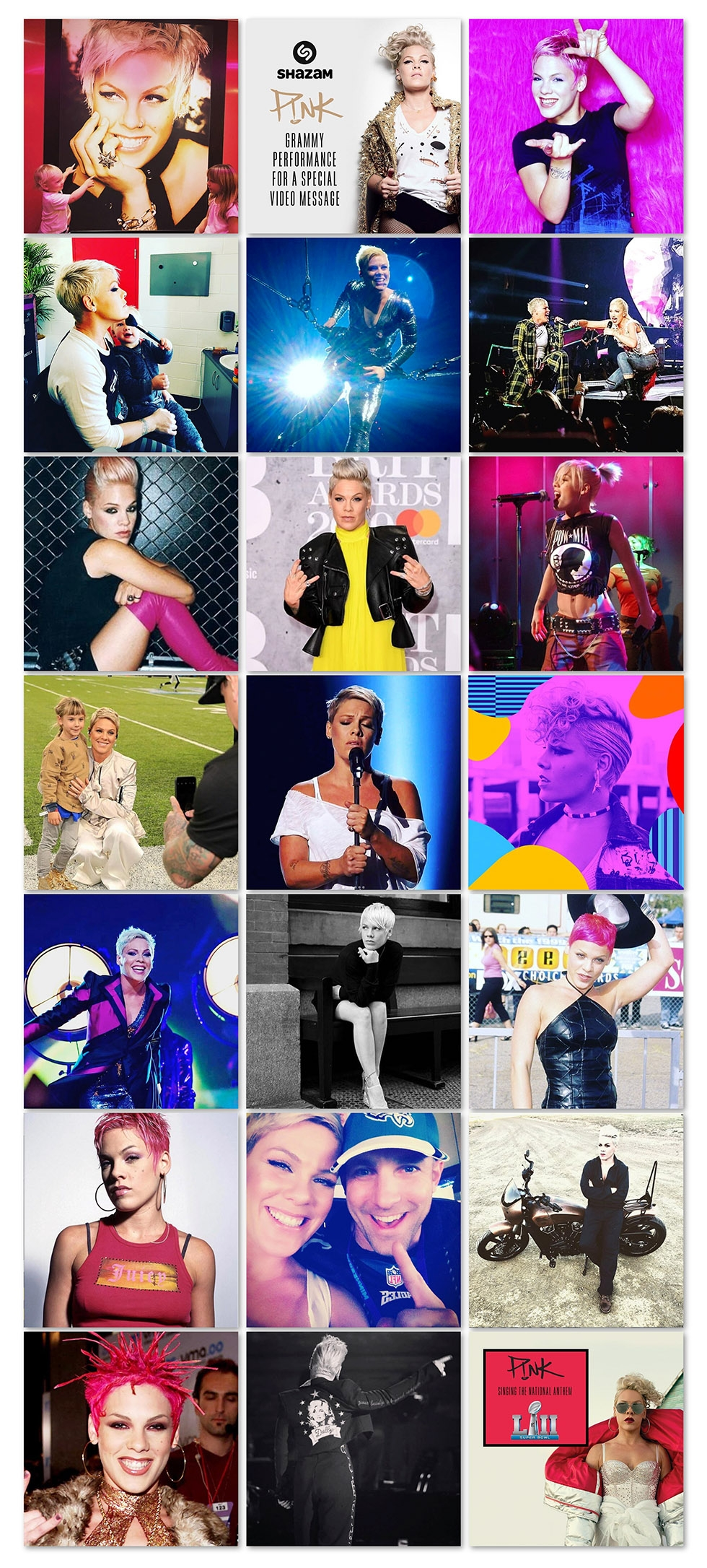 The Many Looks of P!NK