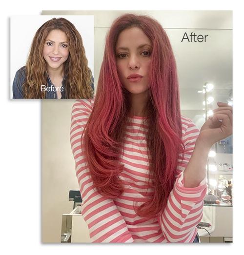 Shakira Goes Red