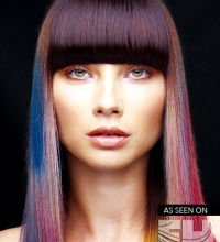 Hair color collection with bright hues