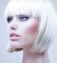 Ice blonde hair