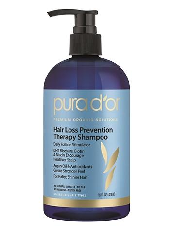 PURA D'OR Hair Loss Prevention Therapy Premium Organic Argan Oil Shampoo
