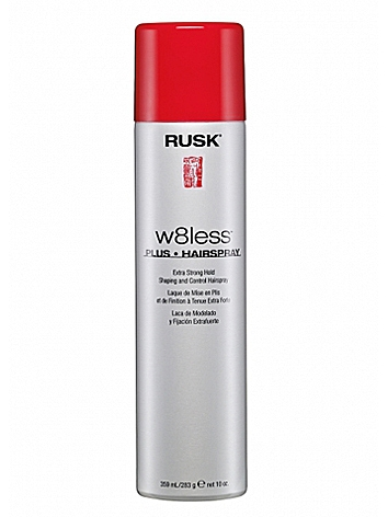 Rusk Designer Collection W8less Plus Extra Strong Hold Shaping and Control Spray